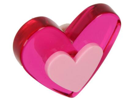 Sam Bouton de meuble coeur plexi magenta