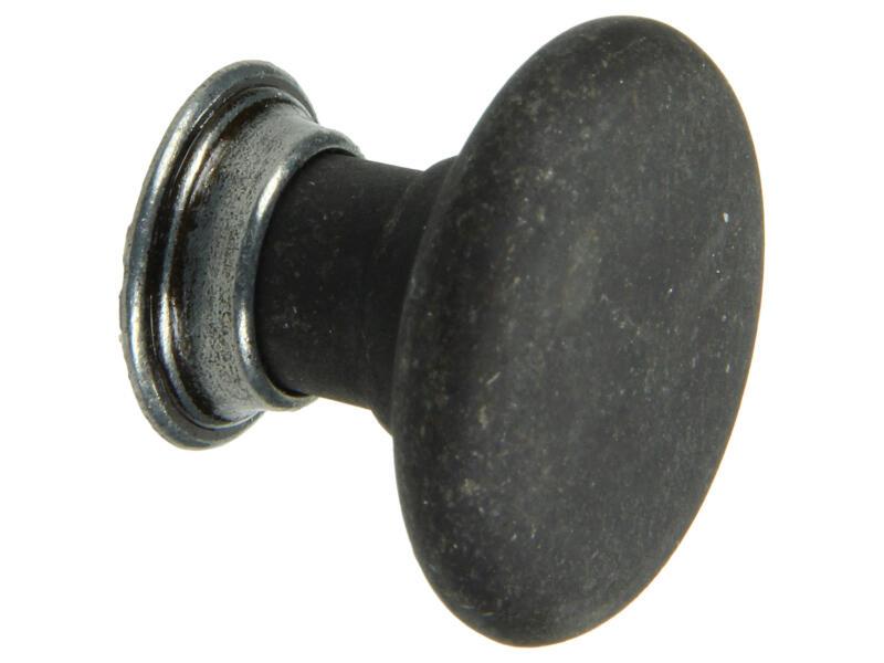 Yale Bouton de meuble décoratif Victoria avec rosace 33mm noir