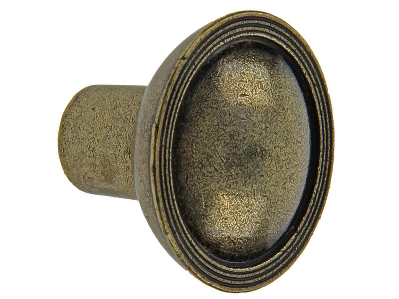 Sam Bouton de meuble décoratif antique 30x24 mm bronze