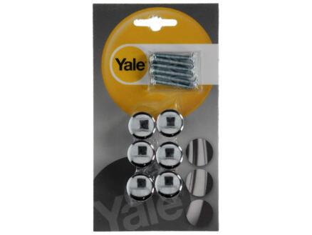 Yale Bouton de meuble en T 47mm chrome brillant 6 pièces