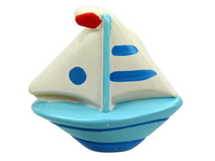 Sam Bouton de meuble enfant bateau peint à la main
