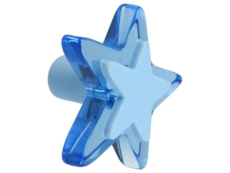 Sam Bouton de meuble étoile plexi bleu
