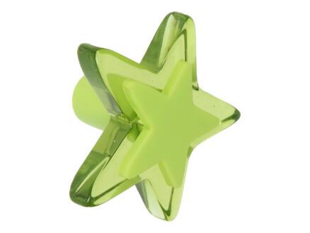 Sam Bouton de meuble étoile plexi vert