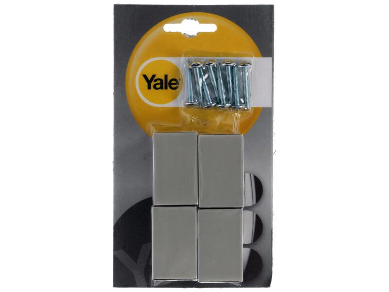 Yale Bouton de meuble sur pied 15x15x30 mm inox 6 pièces