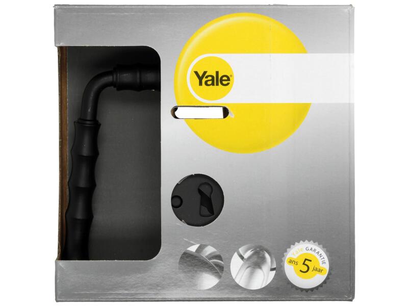 Yale Bray BB poignée de porte set complet acier noir