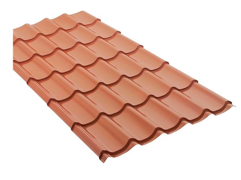 Bricotuil dakplaat 200x98 cm 0,5mm terracotta