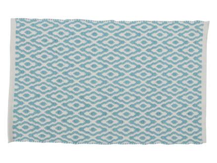 Differnz Brighton tapis de bain 80x50 cm bleu/blanc