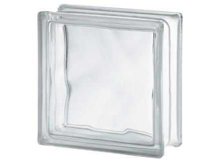 Brique verre 19x19x8 cm nuage