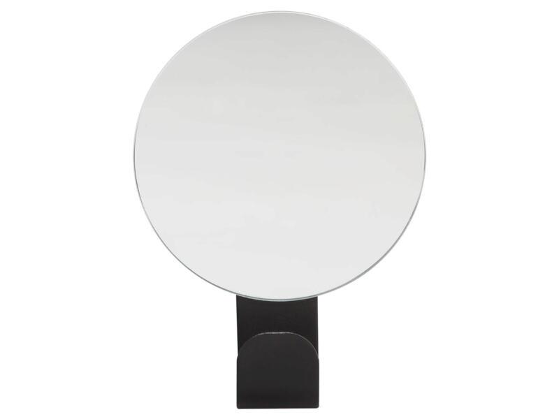 Sealskin Brix handdoekhaakje met spiegel 6cm zwart