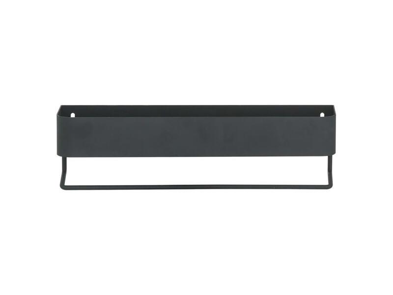 Sealskin Brix porte-serviettes avec tablette 35cm noir