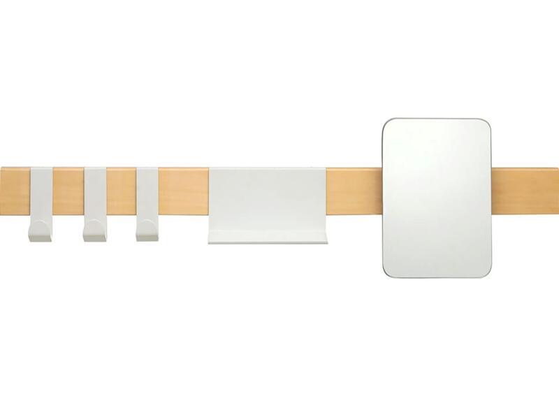 Sealskin Brix portemanteau avec miroir 72cm blanc