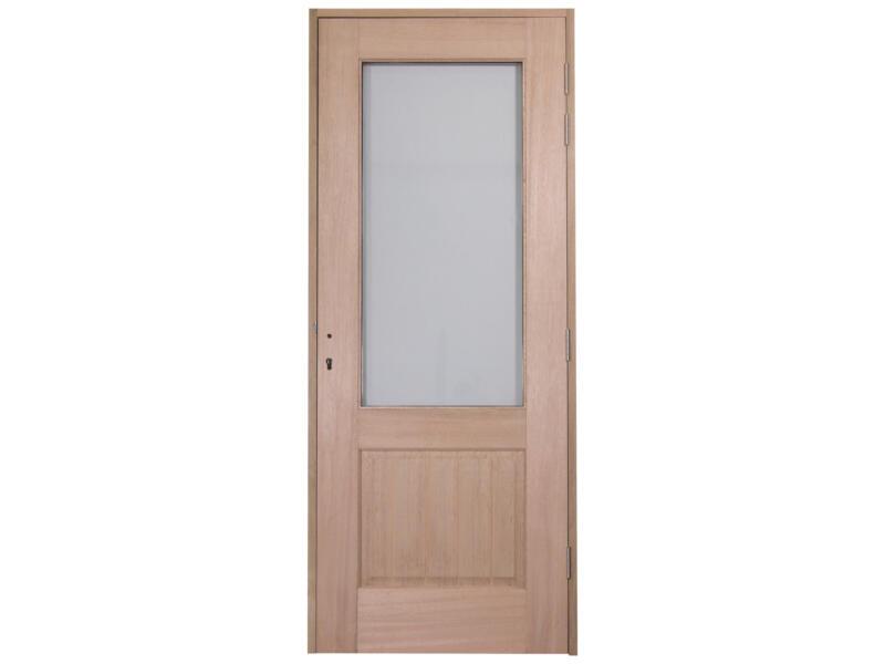 CanDo Bruxelles porte extérieure semi-vitrée ouvrant gauche 211x83 cm bois