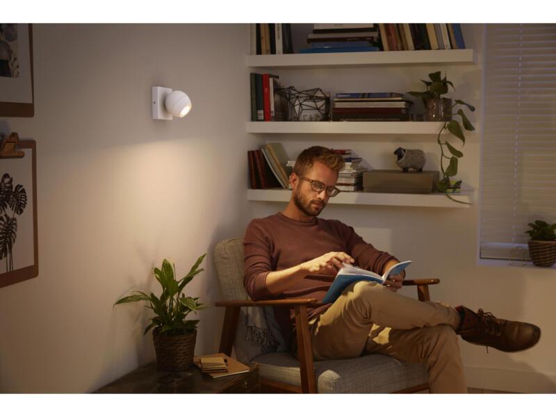 Philips Hue Buckram LED wandspot GU10 5,5W wit + dimmer