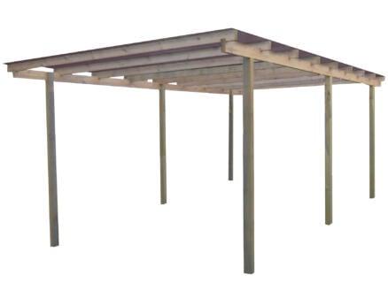 Gardenas Budget carport 300x500 cm hout