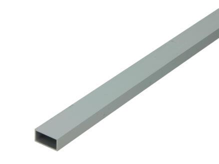 Arcansas Buisprofiel rechthoekig 1m 20x10 mm geanodiseerd aluminium mat