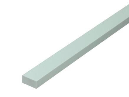 Arcansas Buisprofiel rechthoekig vol 1m 20x10 mm PVC wit