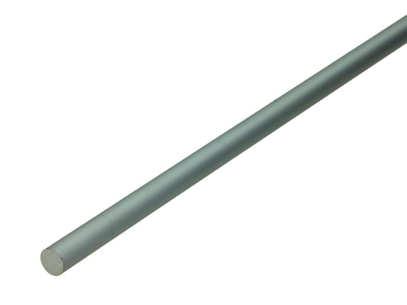 Arcansas Buisprofiel rond vol 1m 10mm geanodiseerd aluminium mat