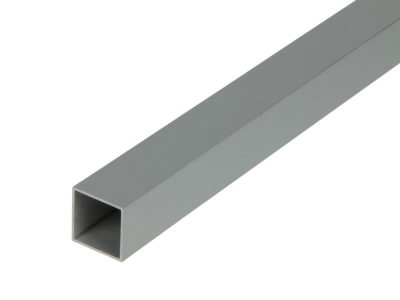 Arcansas Buisprofiel vierkant 1m 20x20 mm geanodiseerd aluminium mat