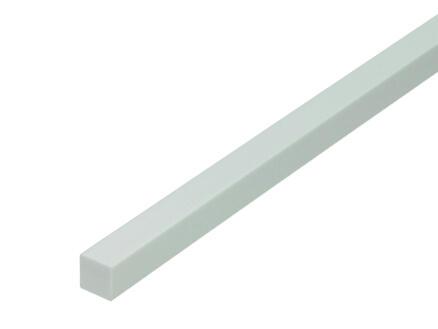 Arcansas Buisprofiel vierkant vol 1m 15x15 mm PVC wit