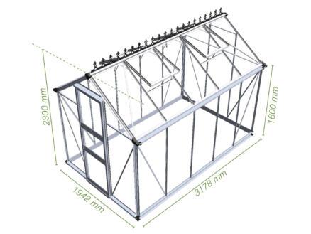 Eden Burford 106 serre verre de sécurité vert