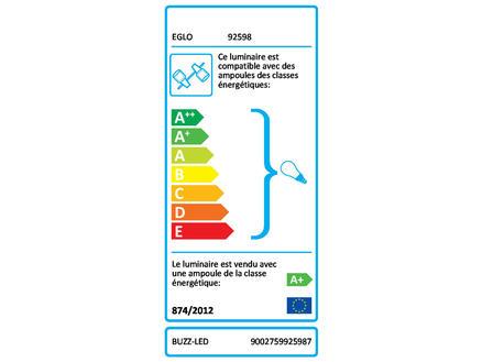 Eglo Buzz barre de spots LED GU10 4x3 W nickel