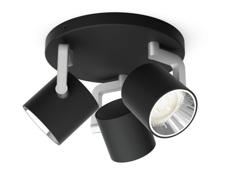 Philips Byrl LED plafondspot 3x4,3 W dimbaar zwart