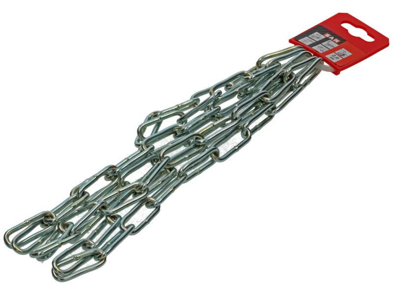 Sam C40 gesmede ketting lange schakel 2m 4mm verzinkt