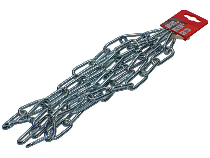 Sam C50 chaîne forgée maillon long 2m 5mm zingué