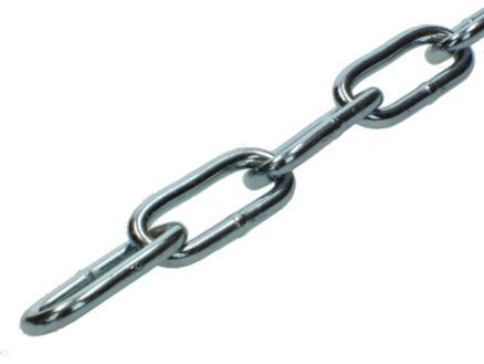 Sam C60 chaîne forgée maillon long 2m 6mm zingué