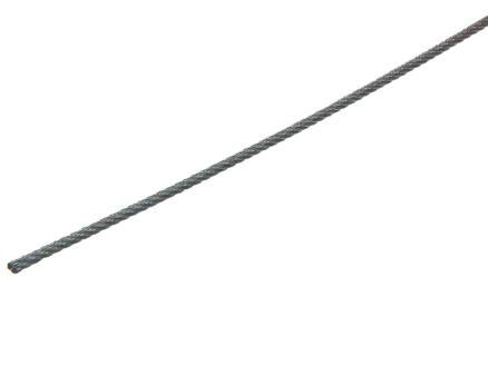 Sam Câble d'acier 2mm par mètre courant zingué