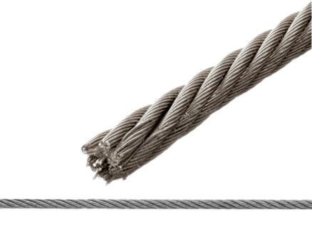 Sam Câble d'acier 3mm par mètre courant PVC