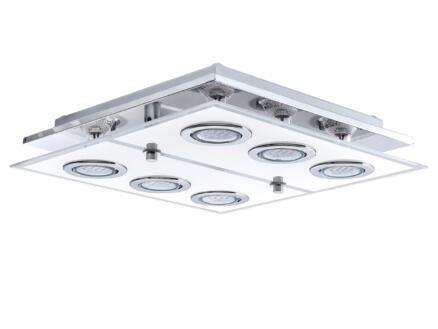 Eglo Cabo LED plafondlamp 6x2,5 W chroom