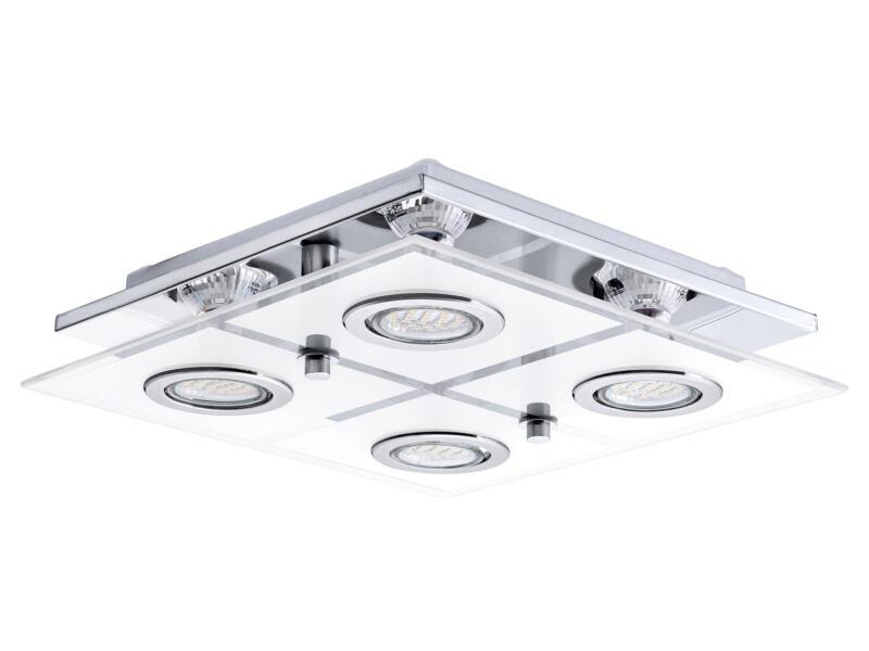 Eglo Cabo LED plafondlamp GU10 4x3 W chroom