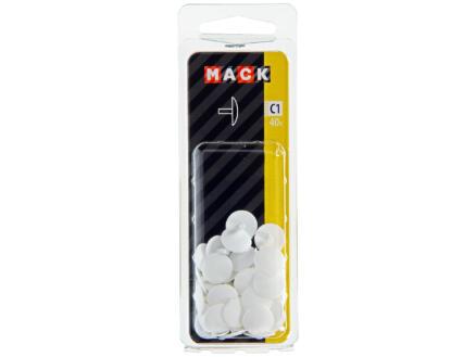 Mack Cache-vis blancs 40 pièces