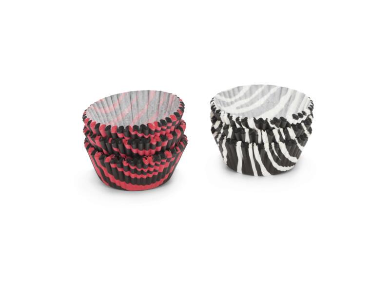 Caissette à cupcake 5cm rayures zèbre 200 pièces