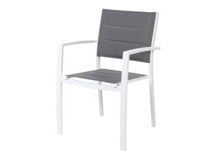 Garden Plus Calvia chaise de jardin gris
