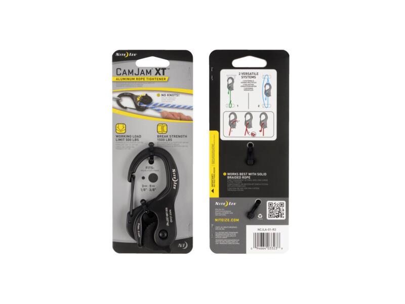 CamJam XT Large karabijnhaak/draadspanner aluminium zwart