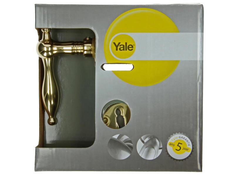 Yale Camilia BB deurklinkset op rozet 50mm gepolijst messing