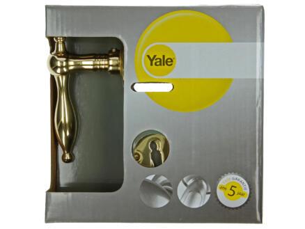 Yale Camilia BB poignée de porte avec rosaces 50mm set complet laiton poli