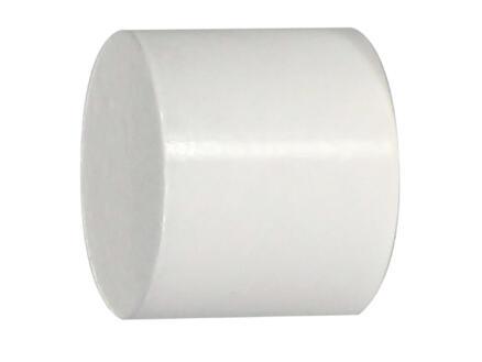 Cap eindkap gordijnroede 20mm wit 2 stuks