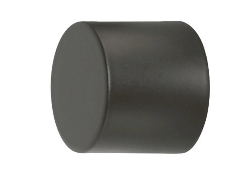Cap eindkap gordijnroede 20mm zwart 2 stuks