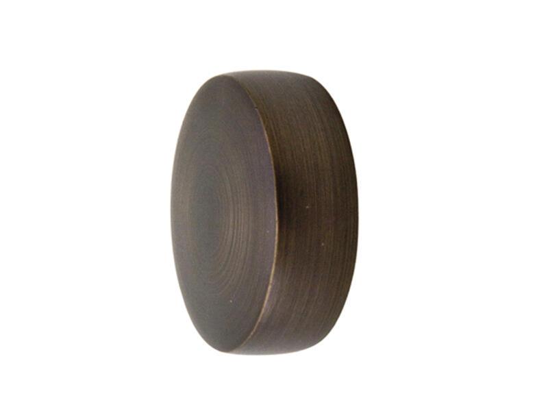 Cap eindkap gordijnroede 25mm brons 2 stuks