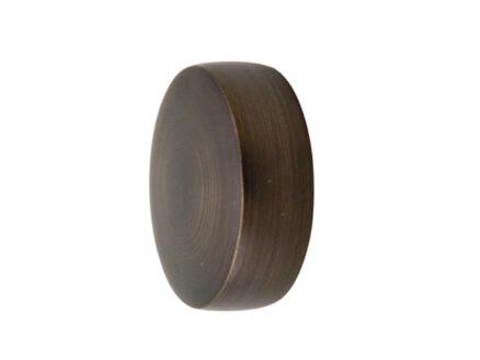 Cap embout plat pour tringle à rideau 25mm bronze 2 pièces
