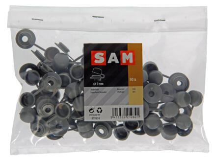 Sam Capuchons d'étanchéité 5mm gris 50 pièces