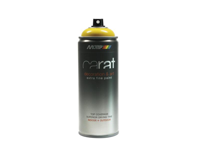 Motip Carat lakspray hoogglans 0,4l koolzaad geel