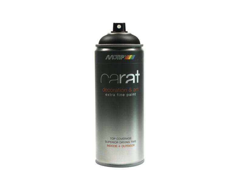 Motip Carat lakspray mat 0,4l verkeerszwart