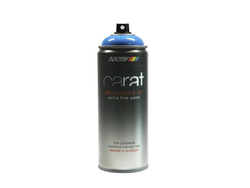 Motip Carat laque déco en spray brillant 0,4l bleu pur