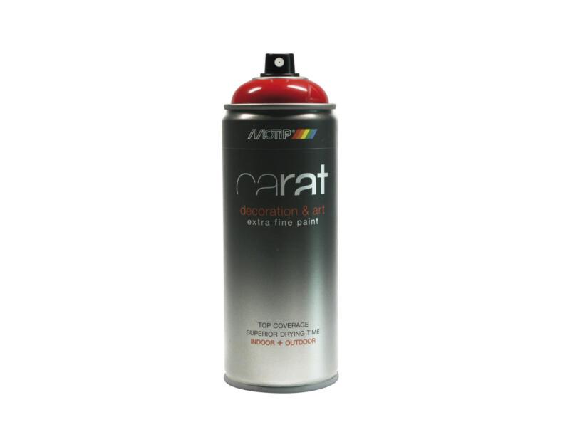 Motip Carat laque déco en spray brillant 0,4l rouge signalisation