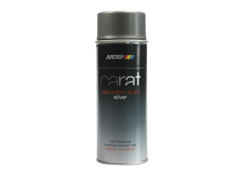 Motip Carat laque déco en spray metallic 0,4l argent