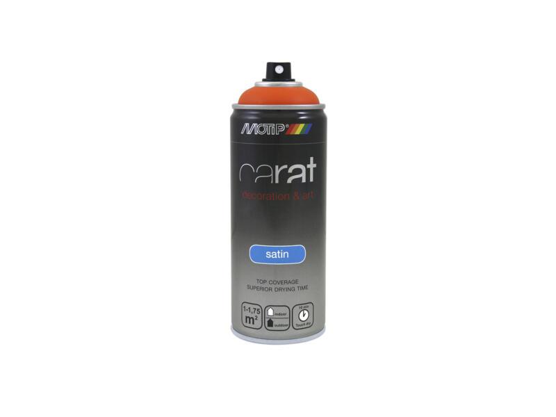 Motip Carat laque déco en spray satin 0,4l orange signalisation